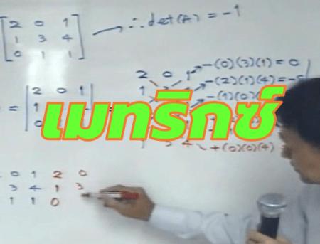 เมทริกซ์ (Matrix) ม.5