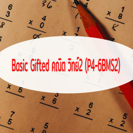Basic Gifted คณิต วิทย์2 ป4-5-6 (P4-6BMS2) 32 ชั่วโมง