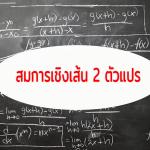 สมการเชิงเส้น 2 ตัวแปร ม.1 (2 ชั่วโมง)