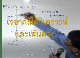 ตัวอย่างการสอนเรขาคณิตวิเคราะห์และเส้นตรง ม.4